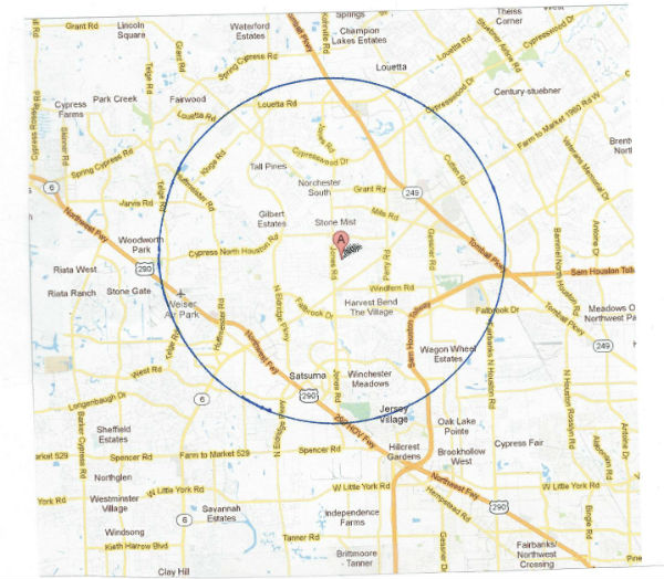 wide area NW Houston map